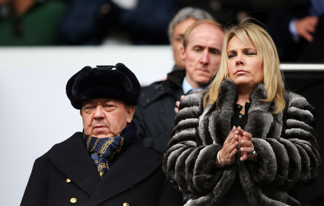 LONDON, ENGLAND - FEBRUARY 22:  West Ham United co-owner David Sullivan looks on during the Barclays Premier League match between Tottenham Hotspur and West Ham United at White Hart Lane on February 22, 2015 in London, England.  (Photo by Paul Gilham/Getty Images)
