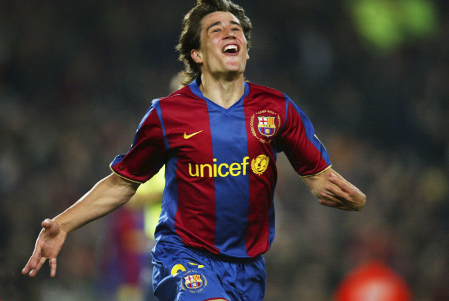 BARCELONA, SPAIN - NOVEMBER 24:  Bojan Krkic of Barcelona celebrates his goal during the La Liga match between FC Barcelona and Recreativo de Huelva, played at the Camp Nou stadium on November 24, 2007 in Barcelona, Spain. (Photo by Bagu Blanco/Getty Images).