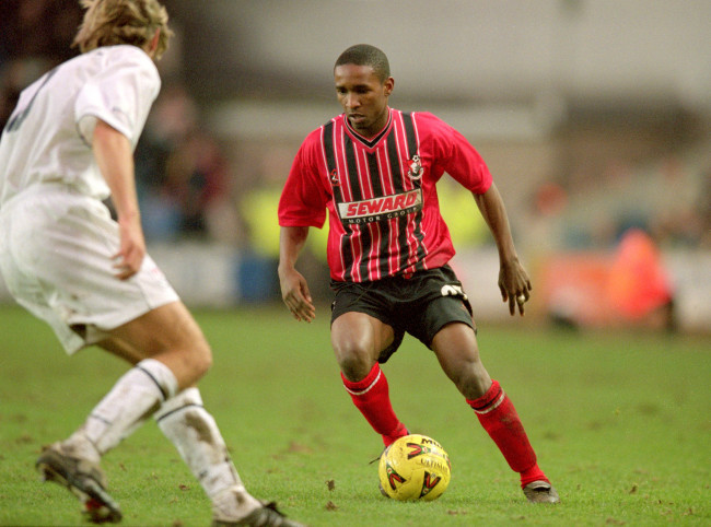 27 Jan 2001:  Jermaine Defoe of Bournemouth on the ball during the Nationwide League Division Two match against Millwall at the New Den in London. Bournemouth won 1-0.  Mandatory Credit: Chris Lobina /Allsport