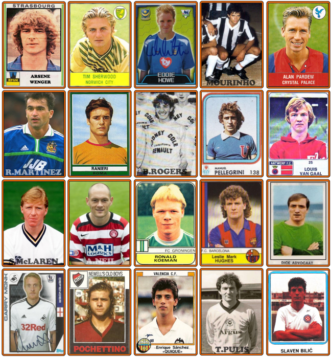 Premier League Managers Season 2015-16 panini