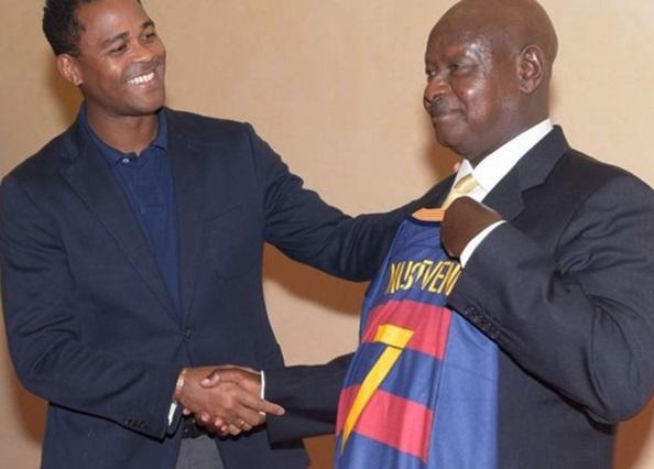 Museveni-kluivert-barcelona-uganda