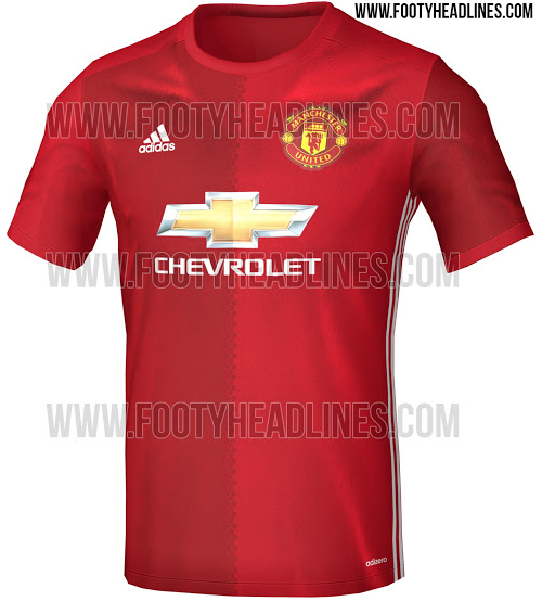 promo code 2e7d3 f0a00 New Manchester United 2016/17 'Half And Half' Adidas Home ...