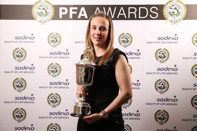 Sunderland-Ladies-Beth-Mead-poses-after-winning-the-PFA-Young-Womens-player-of-the-Year-award