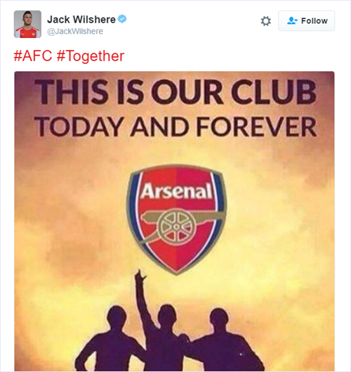 wilshere-arsenal-tweet