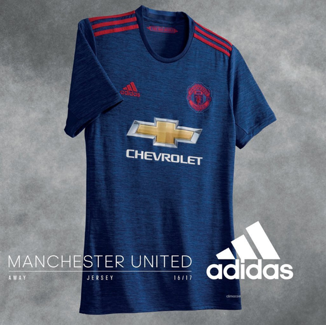 7c14164a487 Manchester United Release First Images Of New Blue Away Kit For 2016 ...