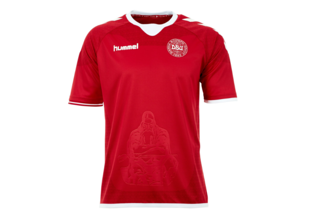 c5deb0196 Denmark s Magnificent New Home Kit Has A Whopping Great Viking On It ...