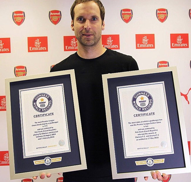 cech-guinness-records-arsenal