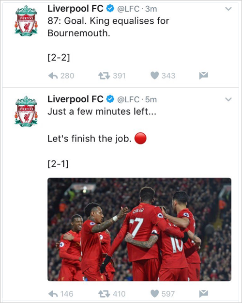 liverpool-bournemouth-tweet