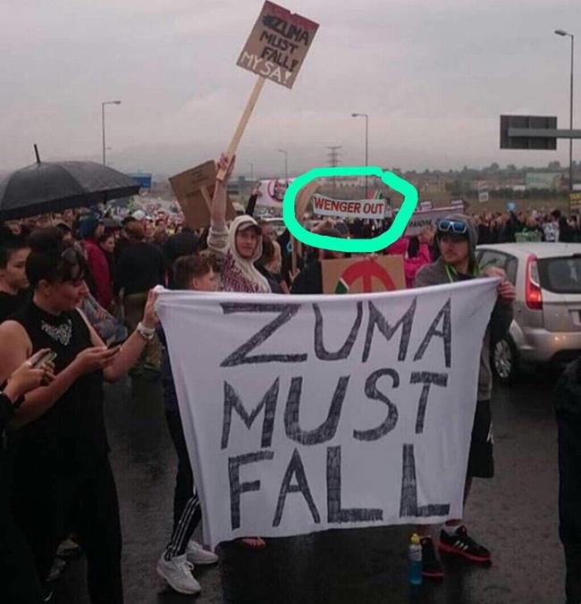 wenger-zuma-protest