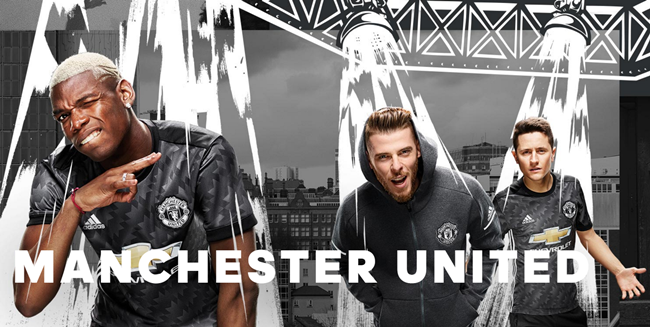 2a694e98613 Man Utd Reveal New Silvery Grey Away Kit, Inspired By Trefoil Design Of  1992 (Photos & Video)