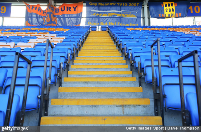 Shrewsbury Town become first English club to apply for safestanding