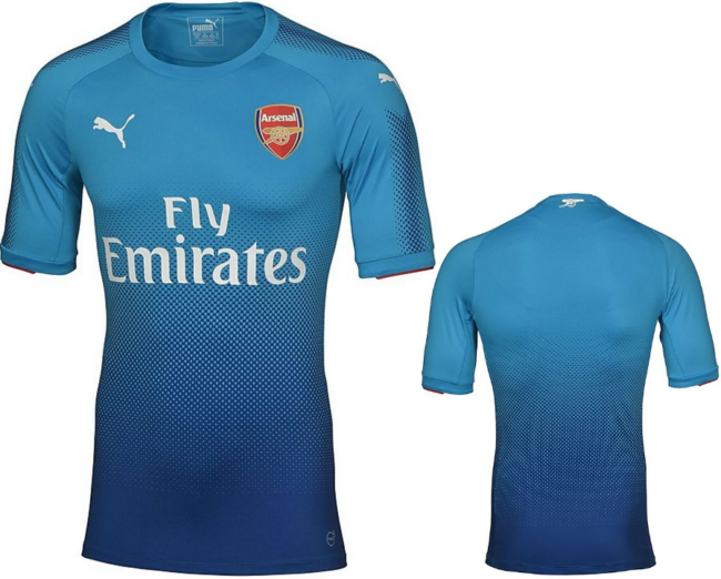 new style 9ccb3 4708b Kind Of Blue: Arsenal Officially Unveil Their Shiny New 2017 ...