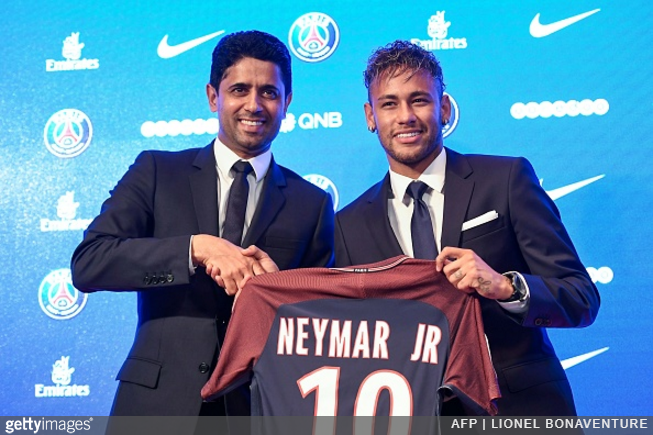 211b4eb7b  I Have Never Been Motivated By Money  – Neymar Holds His New Work Shirt  Aloft At PSG Unveiling (Photos) August 4th