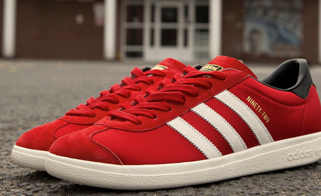 eaf64a47b8a Man Utd  Adidas Release Limited Edition  Class Of 92  Trainers In ...