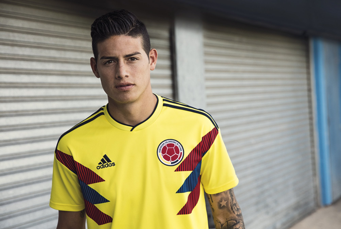 6ae1a577f18 Colombia Steal The Show As Adidas Stage Mass Unveiling Of 2018 World Cup  Kits For Spain