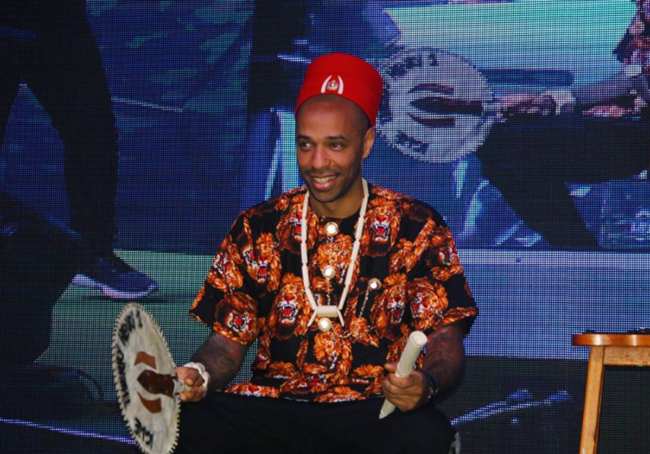 Thierry Henry is crowned Igwe in Lagos