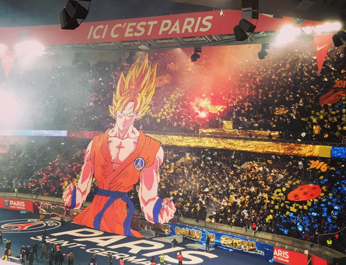 Super Saiyan Psg Fans Unfurl Gigantic Dragonball Z Tifo Ahead Of Le Classique Derby Against Marseille Photos Video Who Ate All The Pies