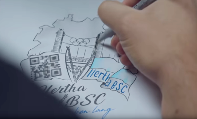 Season Ticket Of A Lifetime: Hertha Berlin Offer One Fan Chance To Win QR  Code Tattoo That Allows Access To Every Home Match For Rest Of Time