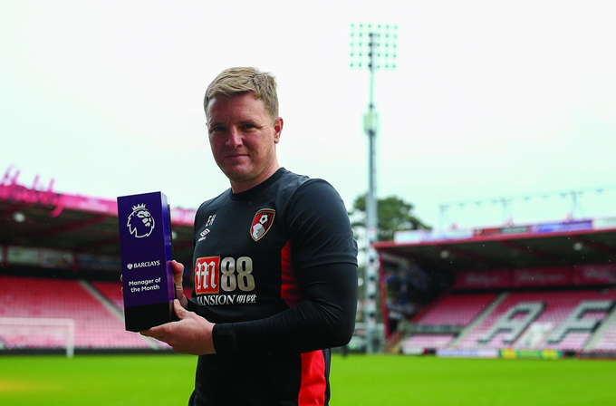 Bournemouth Bright Young Eddie Howe Named Premier League Manager Of The Month Photo Who Ate All The Pies