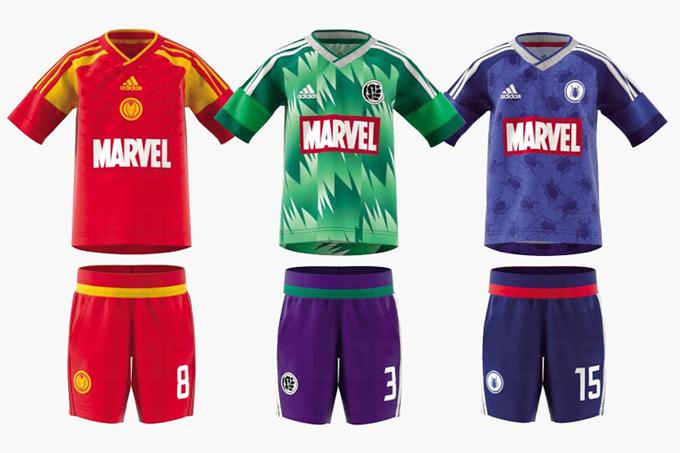 ff8df7d2642 Adidas Create Individual Football Kits For Marvel Superheroes Iron ...