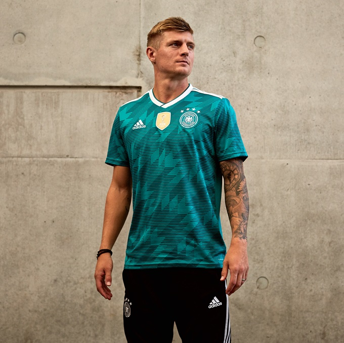 bf9266bff5ed World Cup  Adidas Release Drop-Dead Gorgeous Away Kits For Germany ...