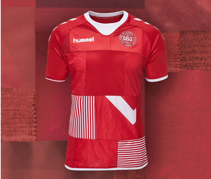 0d69e89fb Hummel Vision  Denmark To Wear Special One-Off Patchwork Shirt Made Up Of  Old Donated Denmark Shirts (Photos)