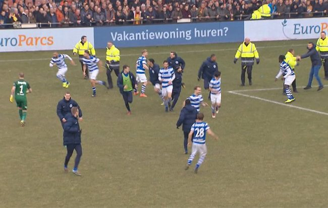 Madness: Go Ahead Eagles Fans Stage Pitch Invasion And Attack De ...