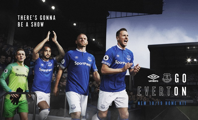 Everton unveil new 2018/19 home kit