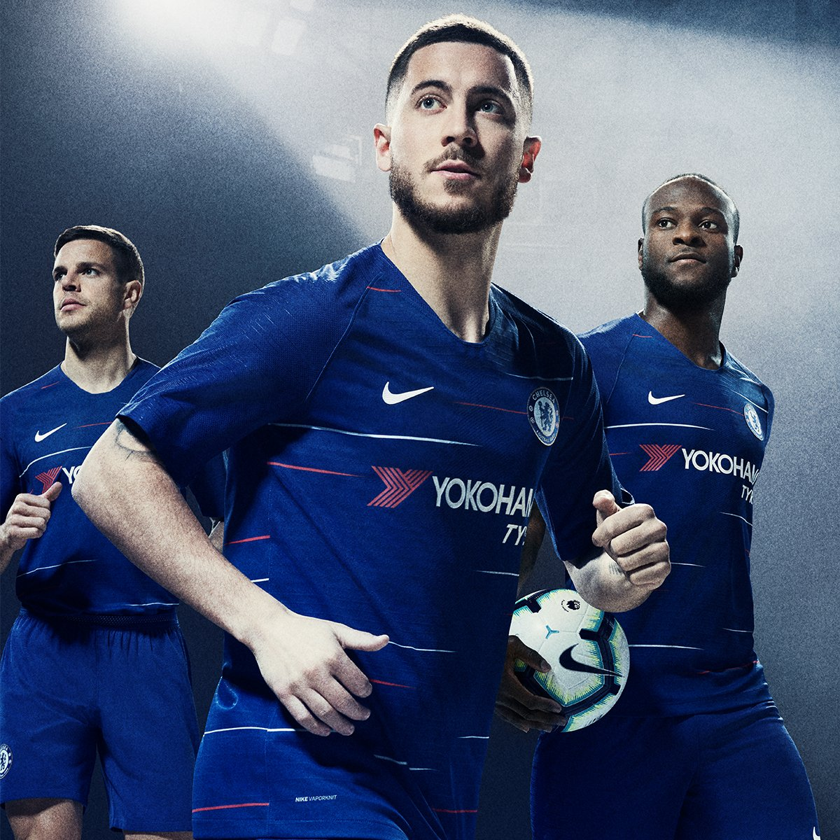 a4948ee55b1 Chelsea s Smart New Home Kit For 2018 19 Season Sees Another Return For Red  Trim (Photos)