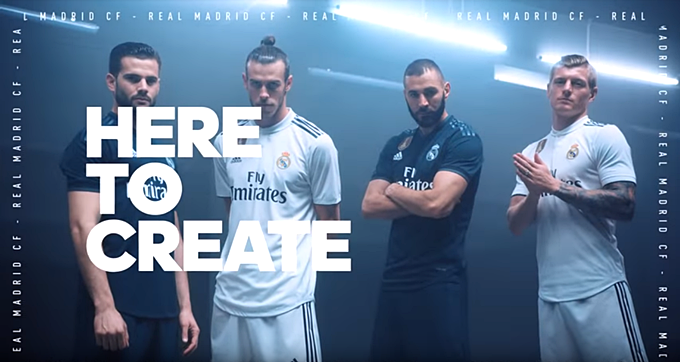 Real Madrid Reveal New Adidas Kit For 2018 19 – The Trim Is Black This Time  (Photo   Video) 09d4913da34c4