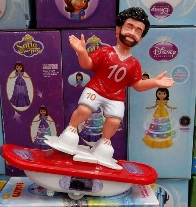Mohamed Salah's likeness can be found absolutely everywhere