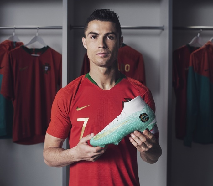 World Cup  Cristiano Ronaldo To Wear Special Nike Mercurial Boots In  Knockout Stages To Celebrate Breaking European International Goal Record  (Photos) 7d24b0290