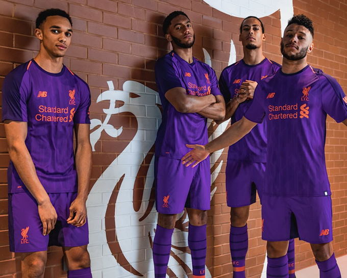 3842779f4 Purple Power  Liverpool Unveil Gaudy New Ultraviolet Away Kit For 2018 19  Season (Photos)