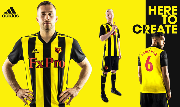 e04a1564a44 All 19  Watford Unveil New Kit By Sending Free Shirts To Hardy Fans Who  Attended Every Away Match Last Season (Photos)