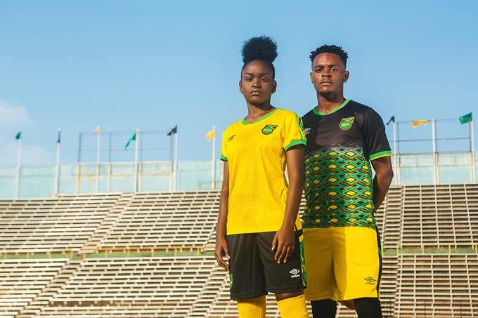 47f864250 Having been entrusted to produce new home and away kits for the Jamaica  national team, Umbro have well and truly come up with the good stuff.