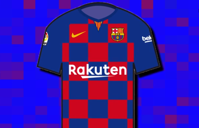 225aa68478e Check Please  Barcelona s 2019 20 Home Shirt To Be First In Club s History  To Not Feature Vertical Lines Or Stripes (Leaked Image)