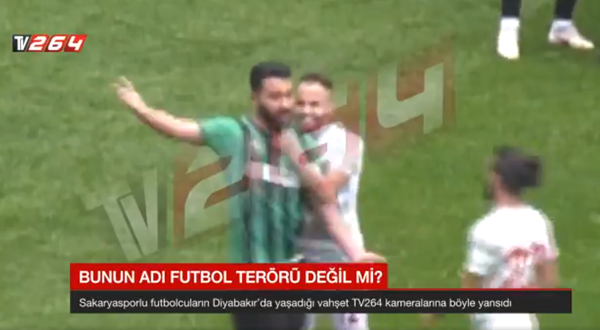 Turkish football player attacks other footballers with razor during handshake